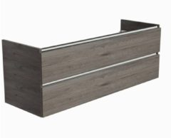 Ben Limara Wastafelonderkast 2 laden, 140x44,5x50, Cape Elm/Aluminium