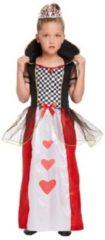 Henbrandt KINDEREN Meisjes Alice in Wonderland Queen of Hearts Kostuum | De Koningin van de Harten Jurk | Kleur: Rood / Wit / Zwart | Harten Koningin | Carnavalskleding | Verkleedkleding | Feest Kostuum | Meisjes | Maat: Large 10-12 Jaar.