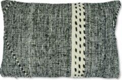 Witte Poufs&Pillows Berber kussen - Zanafi stijl - 55 x 35cm - handgeweven en vervaardigd uit een traditioneel Zanafi vloerkleed