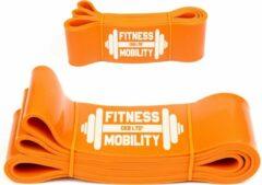 CKB Weerstandsband Oranje 208cm - 80kg - 8.3cm breed - Fitness - Set - Elastiek weerstandsband - Weerstandskabel - Resistance Power Band Tube - Fitnessbanden