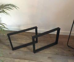 M2-meubels Salontafelonderstel (set) - U-poot 53x37cm | Mat zwart