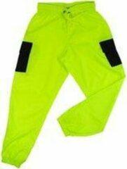 Merkloos / Sans marque La Pèra Groene cargobroek met zwarte zakken Stoere fashion broek met elastische band - Maat M