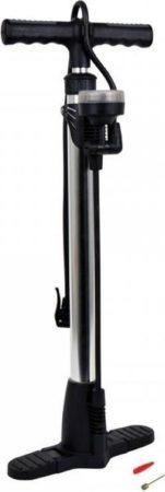 Afbeelding van Zwarte Merkloos / Sans marque Luxe fietspomp met dubbel ventiel inclusief manometer - max 11 bar