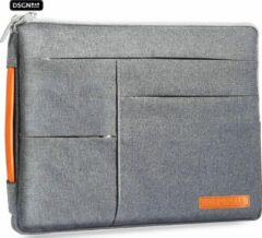 Oranje DSGN Laptophoes met Handvat 14 inch - Grijs - Laptop Sleeve - Laptoptas