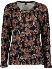 Blue Seven dames shirt LM zwart print - maat 48