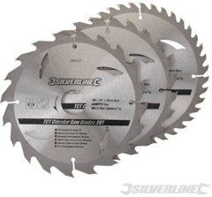 Silverline Tct Cirkelzaagblad 20, 24, 40 Tanden, 3 Stuks (180 X 30 - 20, 16 mm Ringen)