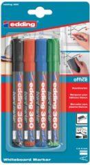 Edding whiteboardmarker 360, blister met 4 stuks in geassorteerde kleuren