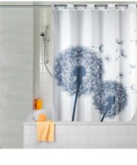 Duschvorhang 'Pusteblume' Wenko weiß/grau