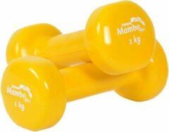 Mambo Max Mambo Dumbbells vinyl gecoat 1 kg geel/paar