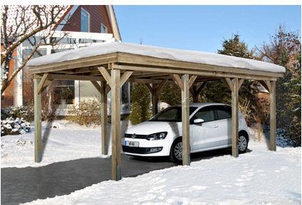 Afbeelding van Bruine Weka Carport Tirol B 330 x D 630 x H 215 cm