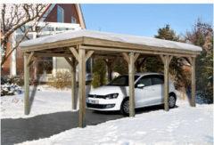 Bruine Weka Carport Tirol B 330 x D 630 x H 215 cm