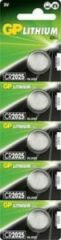 GP batterijen CR2025 Knoopcel Lithium 3 V 160 mAh GP Batteries 5 stuks