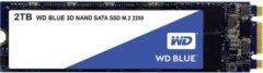 """Western Digital WDS200T2B0B SATA M.2 SSD 2280 harde schijf 2 TB Blueâ""""¢ Retail M.2"""