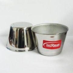Zilveren RVS timbaaltje - 7cm x 5.5cm - Inoxibar