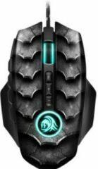 Zwarte Sharkoon Drakonia II muis USB Type-A Optisch 15000 DPI Rechtshandig