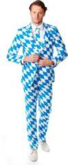 Oktoberfest Opposuits - Bayern Oktoberfest Print Verkleedkleding Net Kostuum/pak Voor Heren Inclusief Stropdas 54 (2xl)