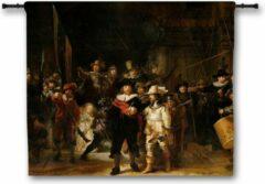 Zwarte 53 Graden Noord Wandkleed De Nachtwacht - Rembrandt van Rijn - 90x75 cm