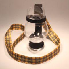 Gele Whisky Unlimited Lanyard Whiskycord, Whisky Keycord 3 stuks