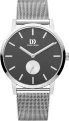 Zilveren Danish Design watches edelstalen herenhorloge Tokyo Silver Black Large Mesh IQ63Q1219