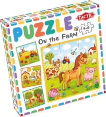 Tactic Puzzel On The Farm Junior 20 X 20 Cm Karton 4-delig
