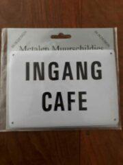Witte Creaties van hier Muurschildje 10x14,5 cm Ingang Café / vaderdag / mancave / verjaardag / cadeau