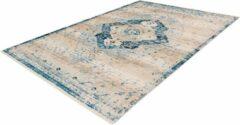 Blauwe Home24 Laagpolig vloerkleed Baroque 500, Arte Espina