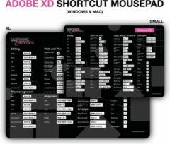Zwarte Worksmarter Adobe XD Shortcut Mousepad - XL - Mac