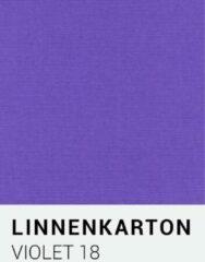 Paarse Linnenkarton notrakkarton Linnenkarton 18 Violet 30,5x30,5cm 240 gr.