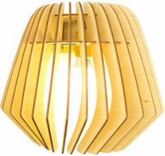 Bruine Bomerango Wall Spin lamp - Muurlamp - Hout - Medium - Koordset wit