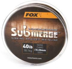 Fox Submerge Braided Mainline - Gevlochten Lijn - 0.16mm - 300m - Camouflage