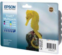 Epson C13T04874010 (T0487) Ink cartridge multi pack, 630pg 5x430pg, 6x13ml, Pack qty 6