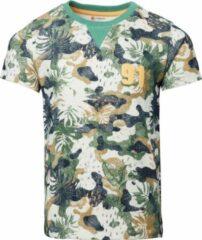 Noppies T-shirt Legume van biologisch katoen groen/beige/grijs
