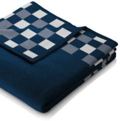 Wohndecke 'Skater' biederlack blau-weiß