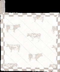 Naturelkleurige Clayre & Eef Pannenlap LWC45N 20*20 cm - Natuur 100% Katoen Afgiet Pannenlap Afgiethulp Pannelap
