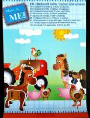 ME KIDS Chipboard knutselpakket, Boerderij, Tractor en Dieren