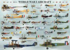 Eurograph Puzzel 1000 stukjes-World war I aircraft