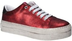 Rode Lage Sneakers Fornarina PE17MX1108R076