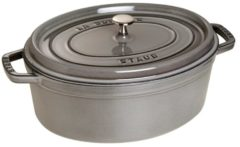 Staub Oval Cocotte - Graphite Grey - 31cm