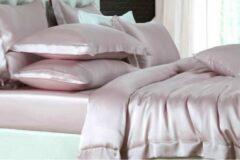 Roze Silkmood Zijden dekbedovertrek, Vintage rose 140x200cm, 100% zijde,405thread count (19momme)