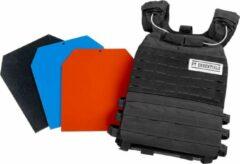 Zwarte PTessentials Crossfit Tactical Vest - Plate Carrier - Weightvest Compleet