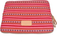 Rode Lisen – Laptop Sleeve tot 15 inch – 39 x 27,5 x 1,5 cm - Bohemian Style – Rood