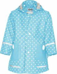Playshoes - Regenjas voor kinderen - Stippen - Turquoise - maat 140cm