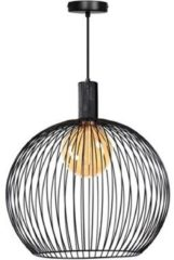 Expo Trading ETH wire - Hanglamp - 1 lichts - Ø 700 mm - Zwart