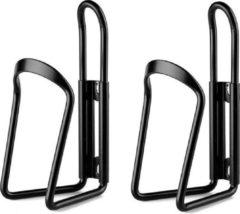 MTB Cycling Set stevige aluminium bidonhouders - 2 stuks - lichtgewicht - Zwart