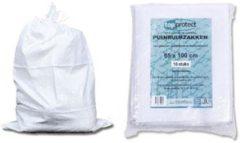 Witte Afdekzeilen.be ERRO Storage Puinzakken - 10 stuks - Met koord - 65x100 - Geweven polypropyleen