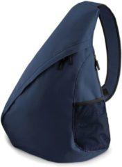 Marineblauwe Bagbase Monostrap schoudertas navy blauw 48 cm