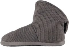Apollo Heren hoge pantoffels/sloffen grijs 41-42
