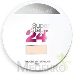 Bruine Maybelline SuperStay Full Coverage Powder Foundation 10 Ivory – Super Dekkende, Langhoudende Foundation Poeder met Matte Finish - Poeder voor Egaal Uitziende Huid – 9 gr.