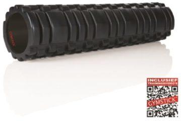 Zwarte Gymstick Trigger Roller - Foam Roller - 60 cm - Met Online Trainingsvideo's