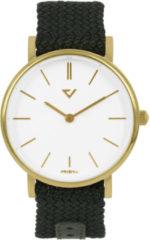Prisma horloge P.1628.WG28 Lederen band Goud